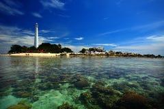 Piękna Lengkuas wyspa Belitong Obrazy Royalty Free