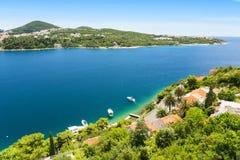 Piękna linia brzegowa blisko Dubrovnik w Dalmatia, Chorwacja Obrazy Royalty Free