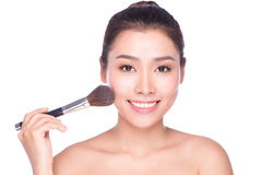 Piękna makeup azjata kobieta Fotografia Royalty Free