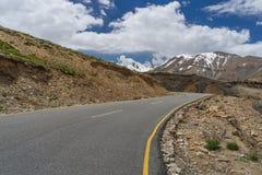 Piękna Manali Leh autostrada, Leh, Ladakh, Jammu Kaszmir, India Fotografia Royalty Free