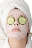 piękna maskowa kobieta Obraz Royalty Free