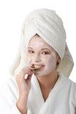 piękna maskowa kobieta Obrazy Royalty Free