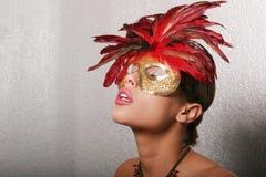 piękna maskowa seksowna kobieta Fotografia Stock