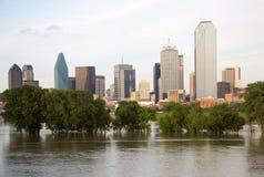 Piękna miasta Dallas linia horyzontu Zdjęcie Stock