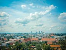 Piękna miasto linia horyzontu, Khonkaen Tajlandia Obrazy Royalty Free
