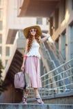 Piękna miastowa kobieta, dziewczyna Fotografia Stock