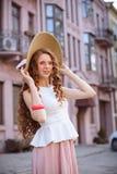 Piękna miastowa kobieta, dziewczyna Obraz Royalty Free