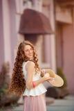 Piękna miastowa kobieta, dziewczyna Obrazy Royalty Free