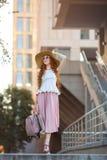 Piękna miastowa kobieta, dziewczyna Fotografia Royalty Free
