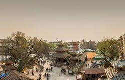 Piękna miastowa panorama na Marzec 25, 2018 w Kathmandu, Nepal Fotografia Royalty Free