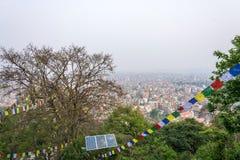 Piękna miastowa panorama na Marzec 25, 2018 w Kathmandu, Nepal Zdjęcia Royalty Free