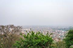 Piękna miastowa panorama na Marzec 25, 2018 w Kathmandu, Nepal Zdjęcia Stock