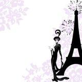 piękna mody rama Paris Obrazy Royalty Free