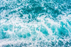 Piękna morza i oceanu wodnej fala powierzchnia Obraz Stock