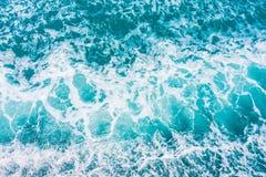 Piękna morza i oceanu wodnej fala powierzchnia Zdjęcia Stock
