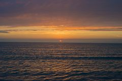 pi?kna nad s?o?ca nad morzem Anapa, Krasnodar region, Rosja fotografia stock