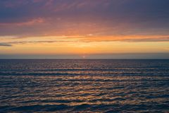 pi?kna nad s?o?ca nad morzem Anapa, Krasnodar region, Rosja zdjęcie stock