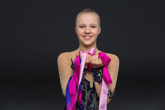 Piękna nastoletnia gimnastyczki dziewczyna Obraz Stock
