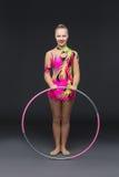 Piękna nastoletnia gimnastyczki dziewczyna Obrazy Stock