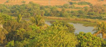 Piękna naturalna scena, kagdi pickup jezioro, banswara, Rajasthan, India Obraz Royalty Free