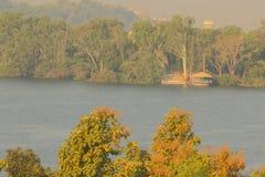 Piękna naturalna scena, kagdi pickup jezioro, banswara, Rajasthan, India Fotografia Stock