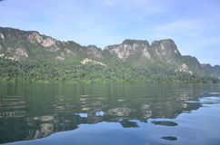 Piękna natury wyspy tama Obraz Stock