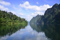 Piękna natury wyspy tama Zdjęcia Stock