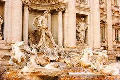 piękna noc fontanny trevi romów Zdjęcie Stock
