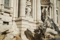 piękna noc fontanny trevi romów Fotografia Royalty Free