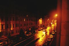 Piękna noc w Leipzig & x28; Germany& x29; Fotografia Royalty Free