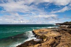 Piękna ocean scena fotografia stock