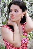 piękna ogrodowa dziewczyna Zdjęcia Royalty Free