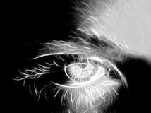 piękna oka kobieta Zdjęcia Stock