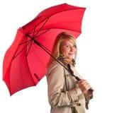 piękna parasolowa kobieta Obraz Stock
