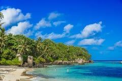 Pi?kna pla?a Mahe, Seychelles - Anse aux szpilki - obraz royalty free