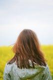 piękna pola kwiatu kobieta Obrazy Royalty Free