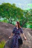 piękna portreta rudzielec kobieta Obrazy Royalty Free
