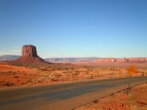 Piękna Pustynna droga Zdjęcia Stock