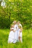 piękna rodzina Obrazy Royalty Free