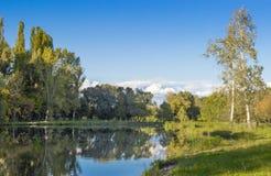 piękna rybaka jeziora krajobrazu natury miejsca cisza obraz royalty free