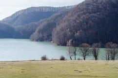 piękna rybaka jeziora krajobrazu natury miejsca cisza obraz stock
