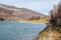 piękna rybaka jeziora krajobrazu natury miejsca cisza fotografia royalty free