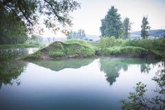 piękna rybaka jeziora krajobrazu natury miejsca cisza Fotografia Stock