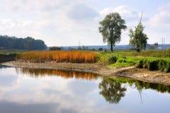 piękna rzeka Fotografia Royalty Free