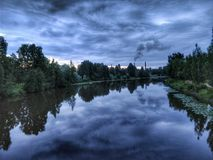 piękna rzeka krajobrazowa Zdjęcia Royalty Free