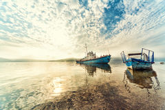 piękna rzeka krajobrazowa Dniester rzeka w Ukraina w wczesnym mo Fotografia Stock