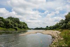 piękna rzeka krajobrazu nieba lato Fotografia Royalty Free