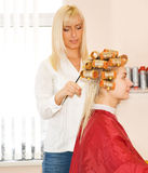 piękna salonu kobieta Zdjęcie Royalty Free