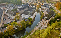 Piękna scena w Luxemburg Zdjęcia Royalty Free
