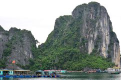 Piękna sceneria Halong zatoka Zdjęcie Stock